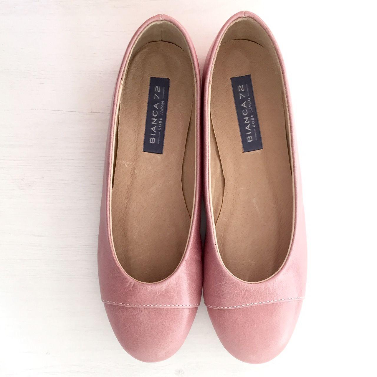 Original handmade leather ballet shoes[MACARON]オリジナルハンドメイドレザーバレエ「マカロン」ピンク×ピンク