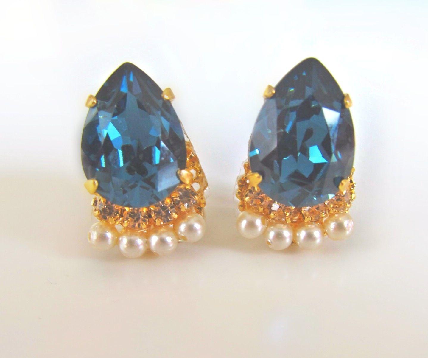 Bijouest petit/ vintage blue piercer & earring