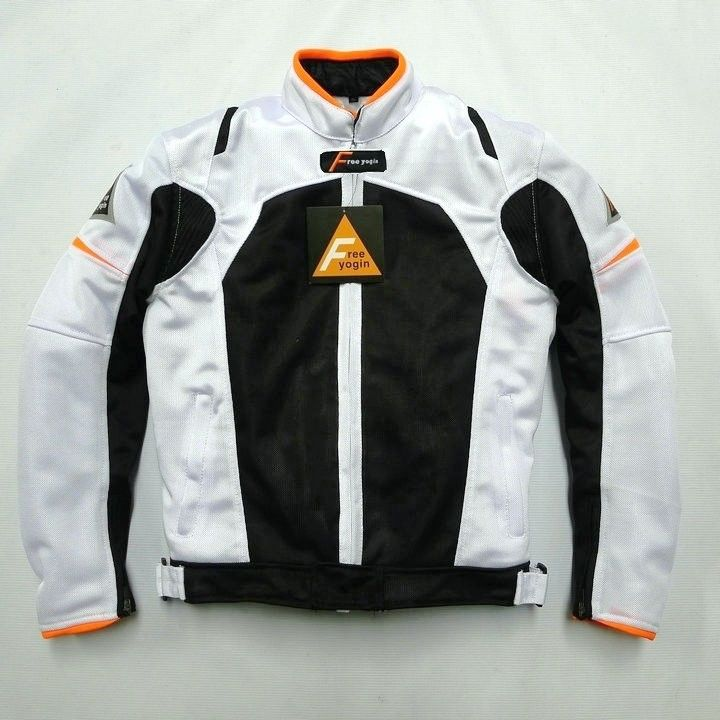FREE YOGIN バイク ジャケット メッシュ ライディングジャケット 春 秋 冬 3シーズン 防寒 プロテクター装備freeyogin413