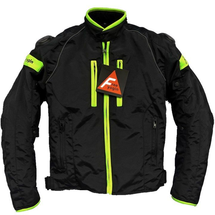 FREE YOGIN バイク ジャケット メッシュ ライディングジャケット 春 秋 冬 3シーズン 防風 防寒 プロテクター装備 foeeyogin601001