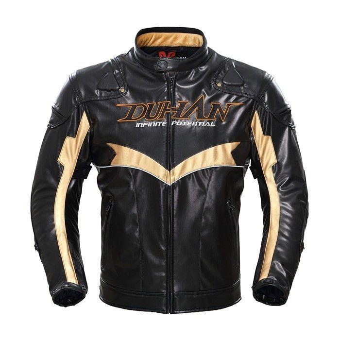 DUHAN製 バイクジャケット メンズ PU 防寒 革ジャケット プロテクター装備 新作 2016 秋冬 duhan095pu01