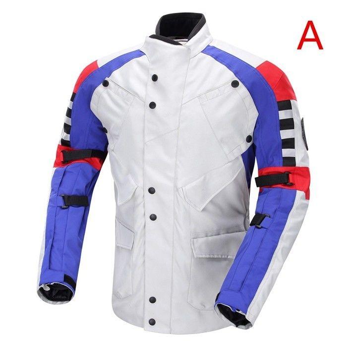 DUHAN製バイクジャケット メッシュ プロテクター装備 レーシング ライディングジャケット ナイロンジャケット バイクウエア 防風 防寒 3シーズン duscf087115