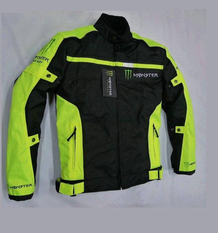 MONSTER ENERGY モンスターエナジー メッシュ バイク ジャケット ライディングジャケット 春 秋 冬 3シーズン 防風 防寒 プロテクター装備 160119gzscf04