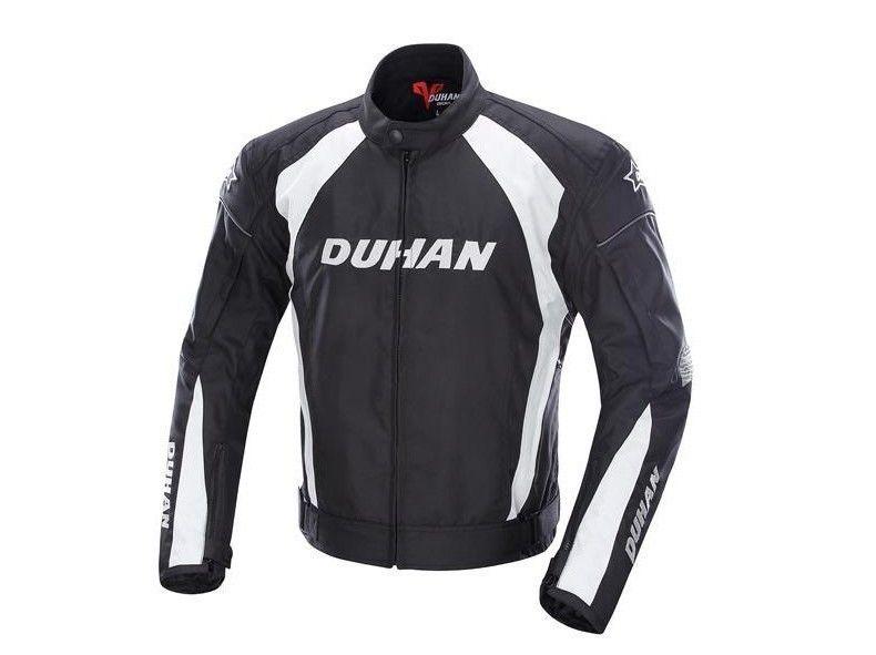 DUHAN製バイクジャケット メッシュ プロテクター装備 レーシング ライディングジャケット ナイロンジャケット バイクウエア 防風 防寒 3シーズン duscf089