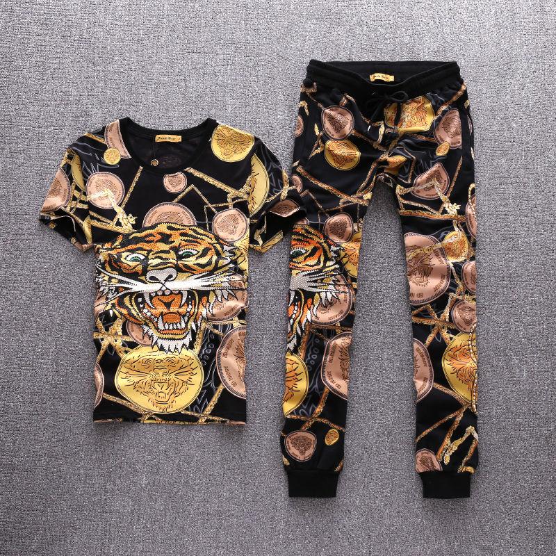 エドハーディー セットアップ メンズ ジャージ 上下 半袖  パンツ 綿 送料無料 3XL  大きいサイズ 1703