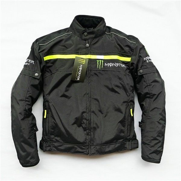 MONSTER ENERGY モンスターエナジー メッシュ バイク ジャケット ライディングジャケット 春 秋 冬 3シーズン 防風 防寒 プロテクター装備 160119gzscf03