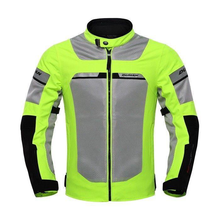 DUHAN製 メンズ バイク ジャケット ライディングジャケット メッシュ 春 夏 秋 3シーズン プロテクター装備 防水 新品 2016 反射テープ duhan013301