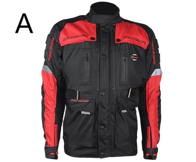 バイクジャケット レーシング ライディングジャケット プロテクター ナイロン ジャケット バイクウエア 防風 防寒 4シーズン 1608jkscf3301