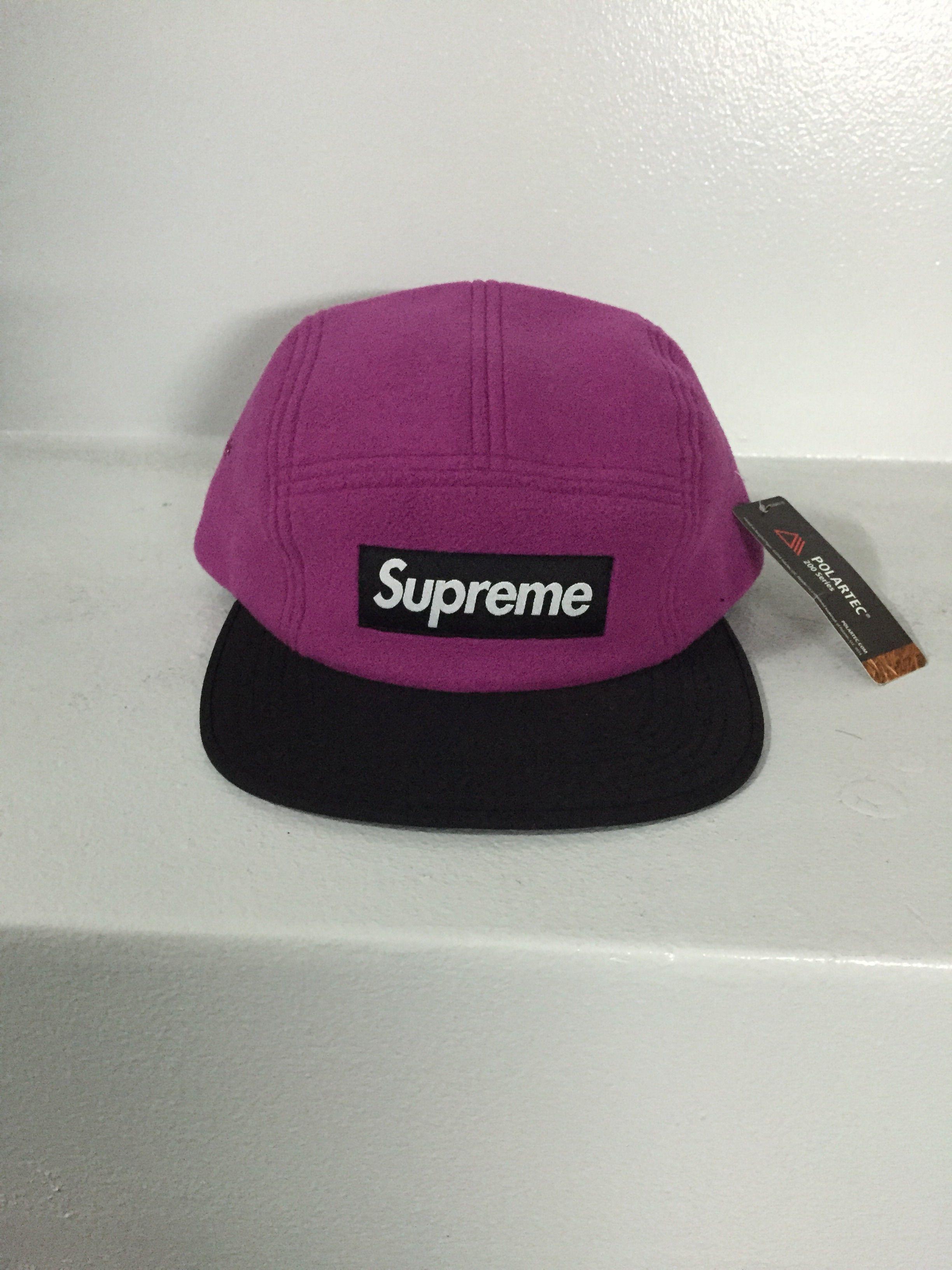 SUPREME/CAMP CAP ピンク