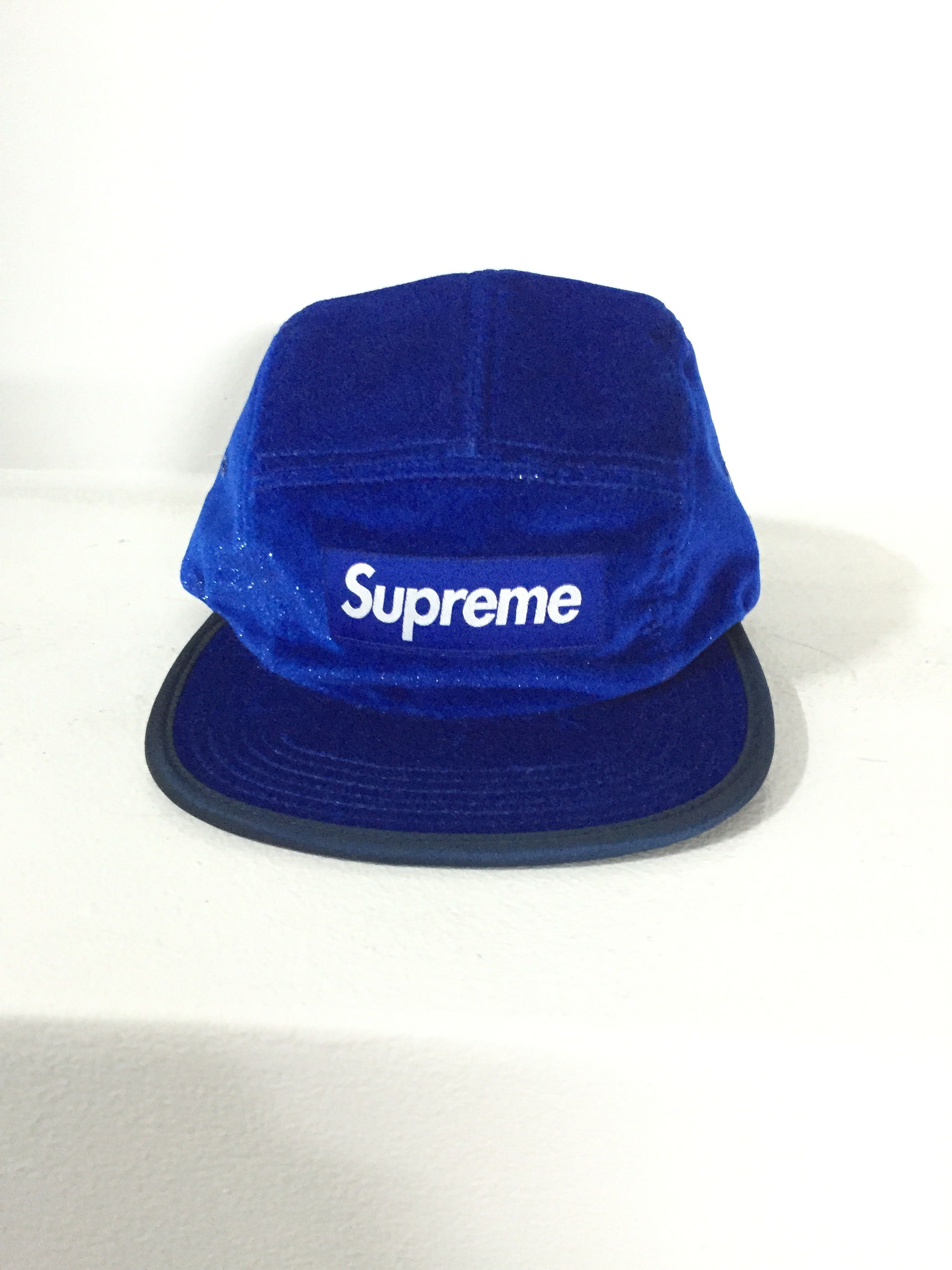 SUPREME/CAMP CAP ブルー