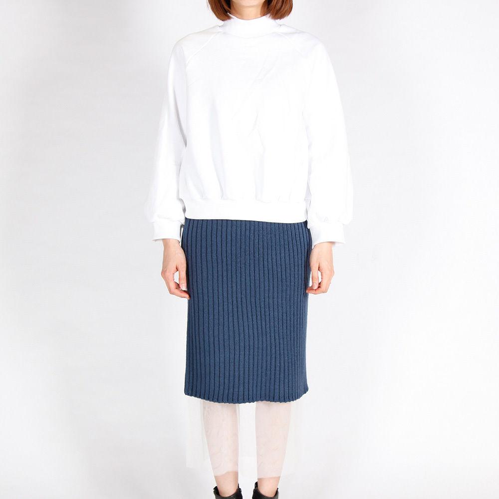 【GINNIE 在庫一掃セール!新品!】チュールニットスカート BLUE