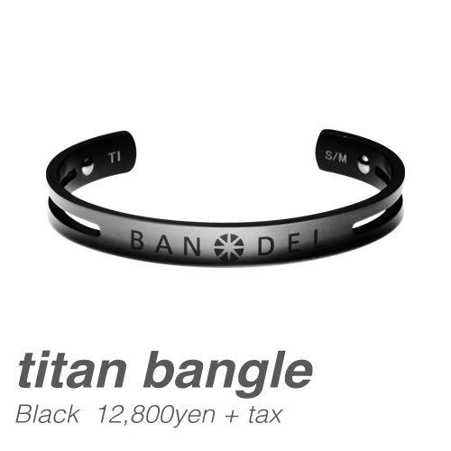 BANDEL titan bangle Black