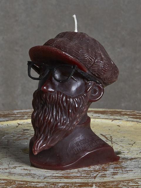 【wisdom×eye candle studio】Mt.Gentleman Candle(DARK BROWN)/ ウィズダム×アイキャンドルスタジオ ミスタージェントルマンキャンドル ダークブラウン