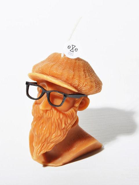 【wisdom×eye candle studio】Mt.Gentleman Candle(ORANGE)/ ウィズダム×アイキャンドルスタジオ ミスタージェントルマンキャンドル オレンジ