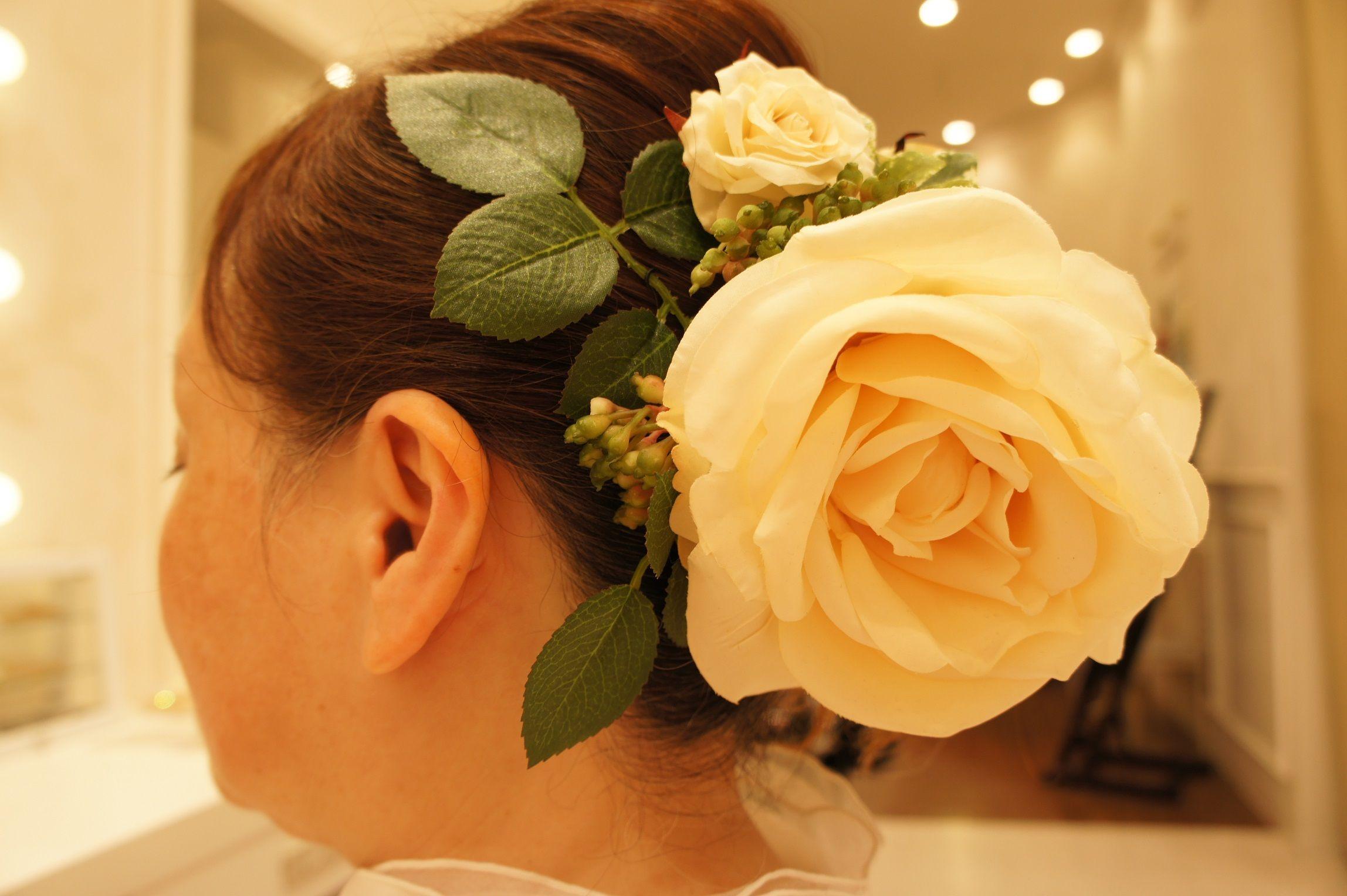 ローズガーデン&多肉のヘッドドレス~Princesse de la Roseraie~