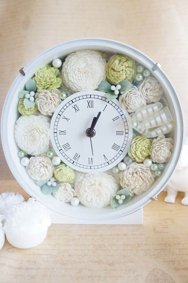 ◆ウェディングのお祝に♪アニバーサリーギフトに♪花時計(グリーン)◆