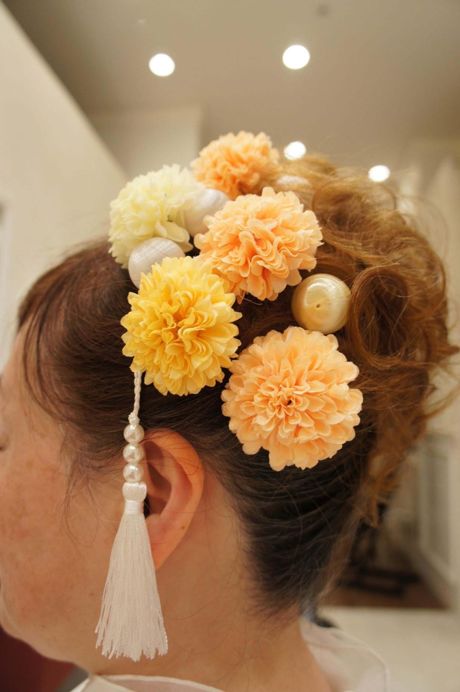 ビタミンカラーマムのティアラ風ヘッドドレス~Tiare du chrysanth?me~