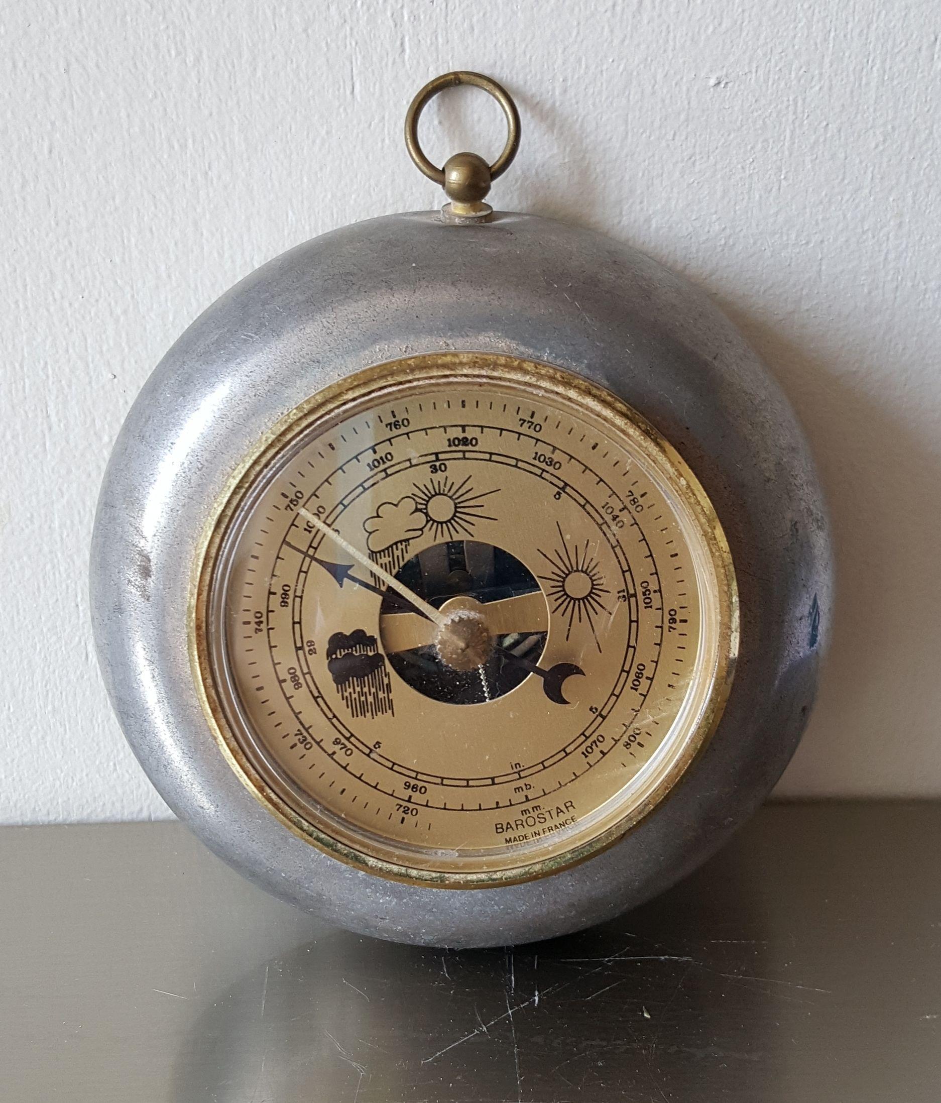 乾湿気象計 メタルフレーム