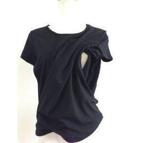【 MADE IN JAPAN 】授乳機能付き Tシャツストレッチベア天竺1-017〔出産後用授乳服〕