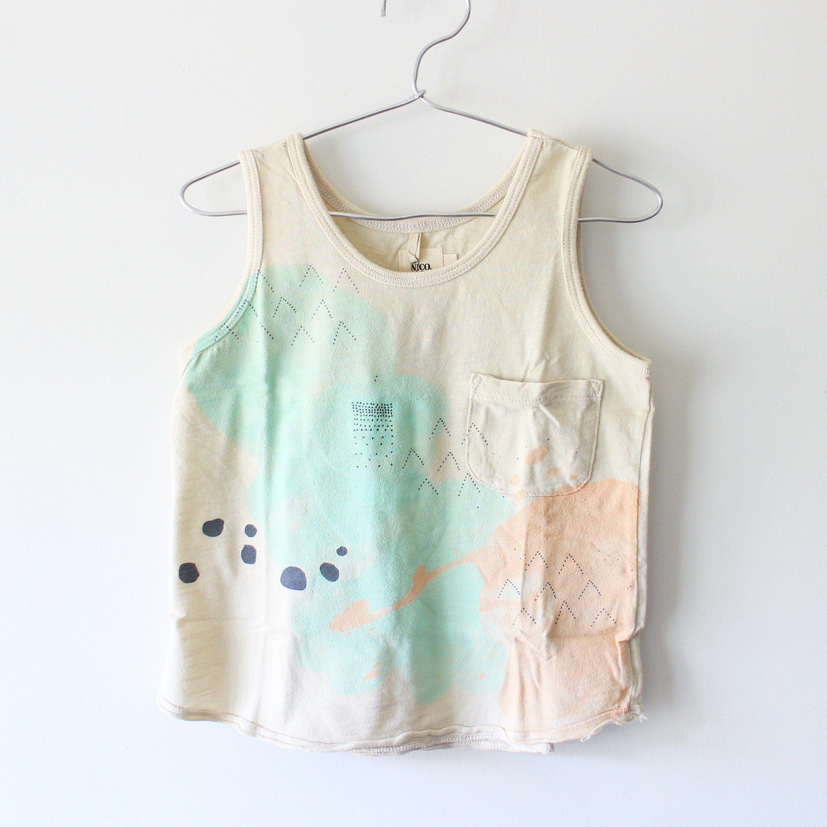 Kids clouds tank / chalk white
