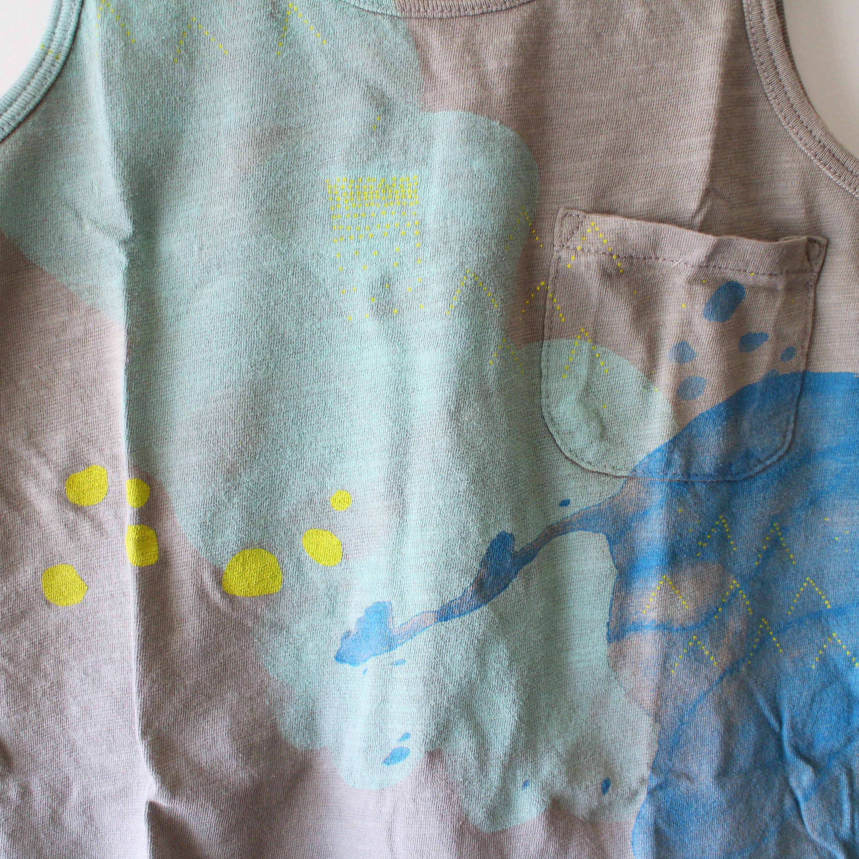 Kids clouds tank / clay