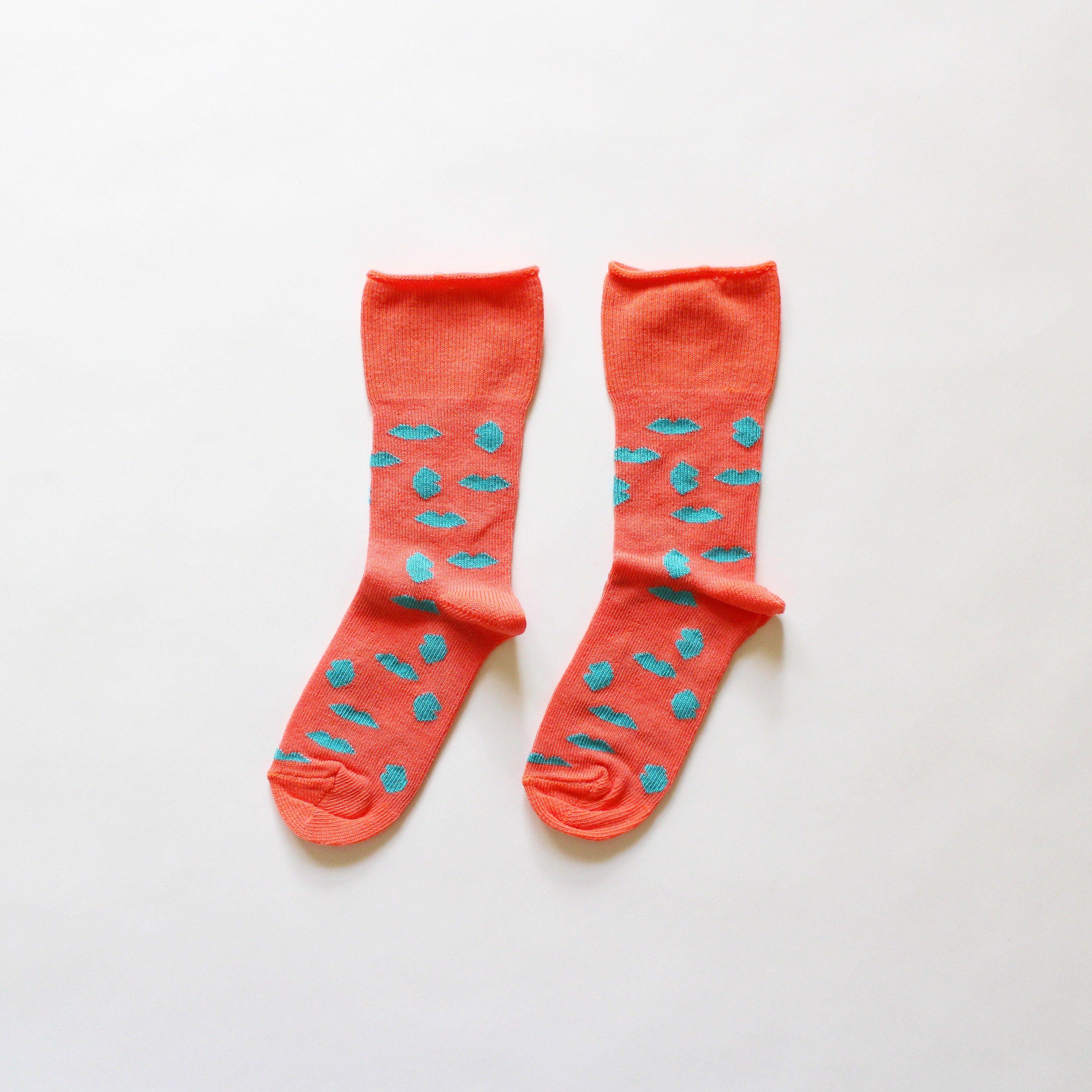 Kids short socks / lips