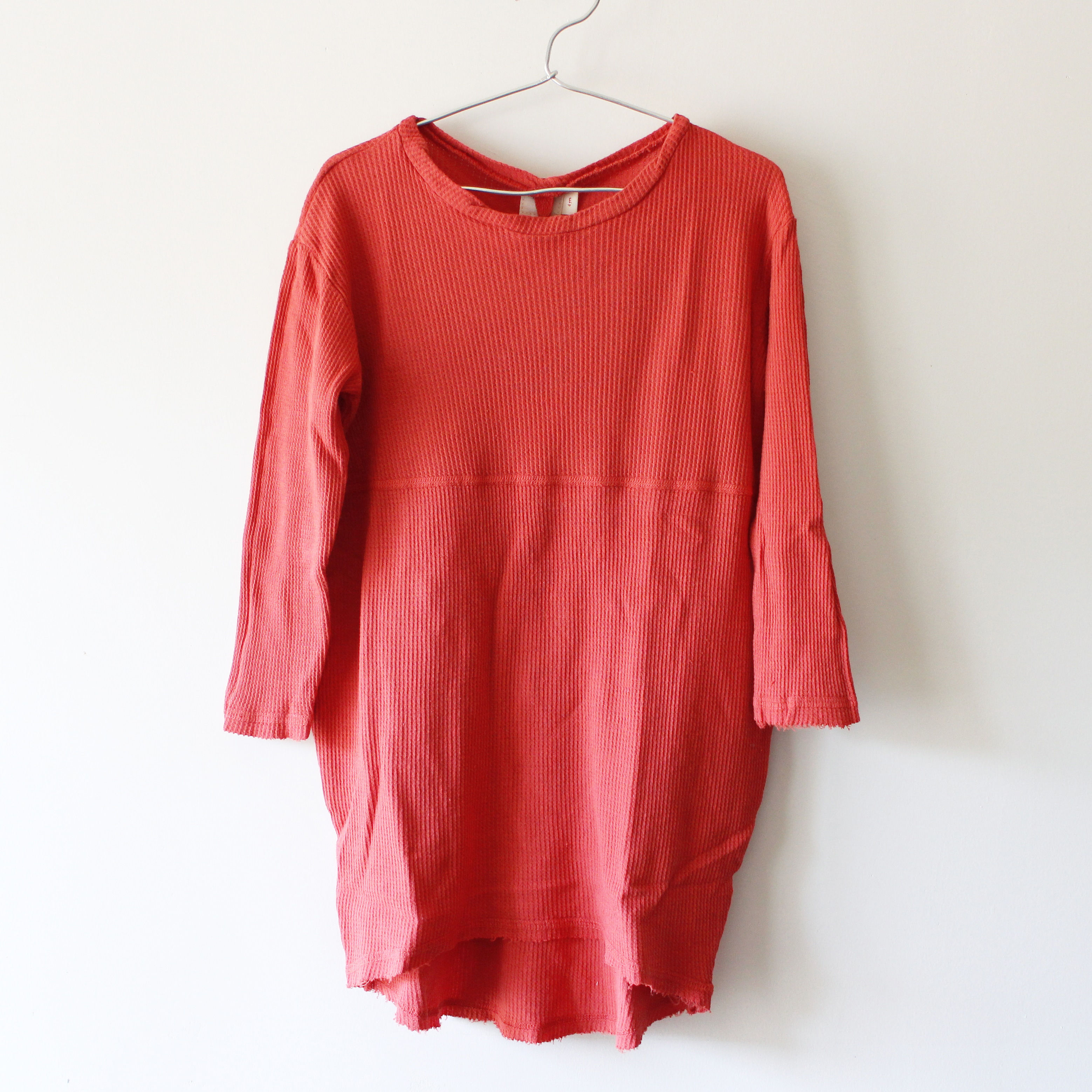 Kids cocoon dress / tomato