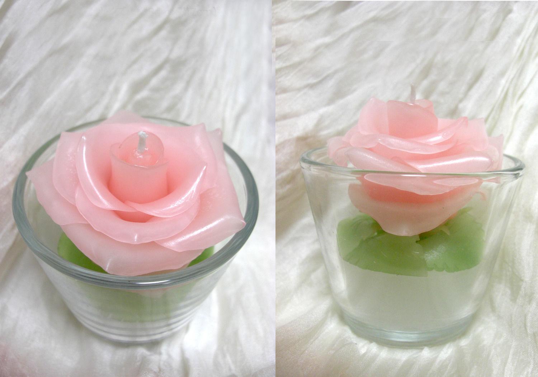 【完成品】薔薇(バラ)キャンドル