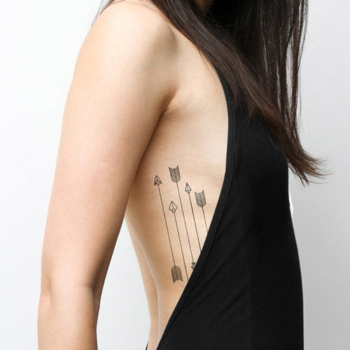 Tatto Sticker Arrows タトゥーシール アローデザイン 2枚セット