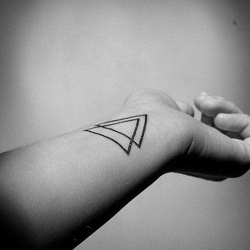 Tatto Sticker Triangle タトゥーシール トライアングルデザイン 2枚セット