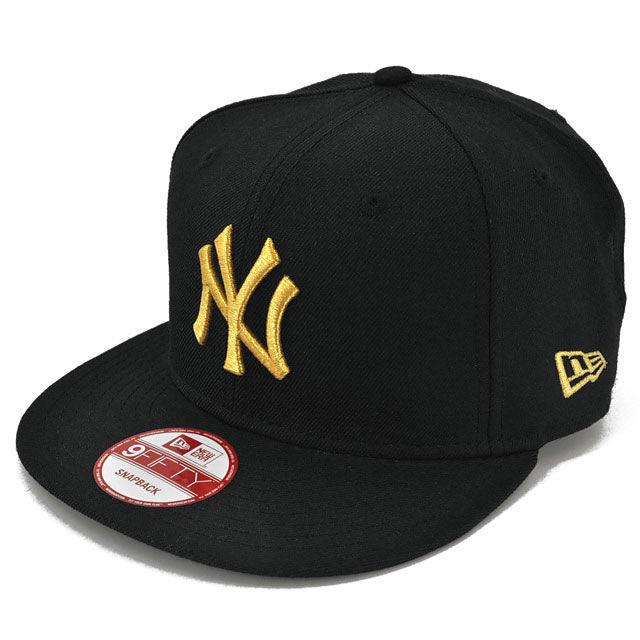 SNAP111 NEWERA ニューエラ スナップバック ヤンキース ブラック/ゴールド 9FIFTY SNAPBACK YANKEES BLACK/GOLD N0015571