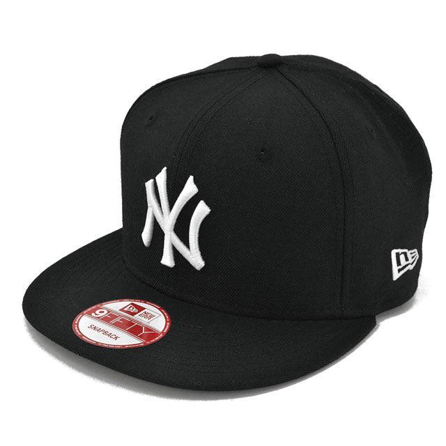 SNAP110 NEWERA ニューエラ スナップバック ヤンキース ブラック/ホワイト 9FIFTY SNAPBACK YANKEES(MLB) BLACK/WHITE N0015570