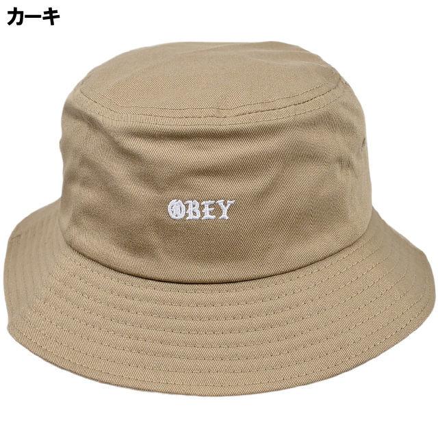 OBEY254 OBEY MONOGANG BUCKET HAT KHAKI オベイ モノグラム バケットハット カーキ