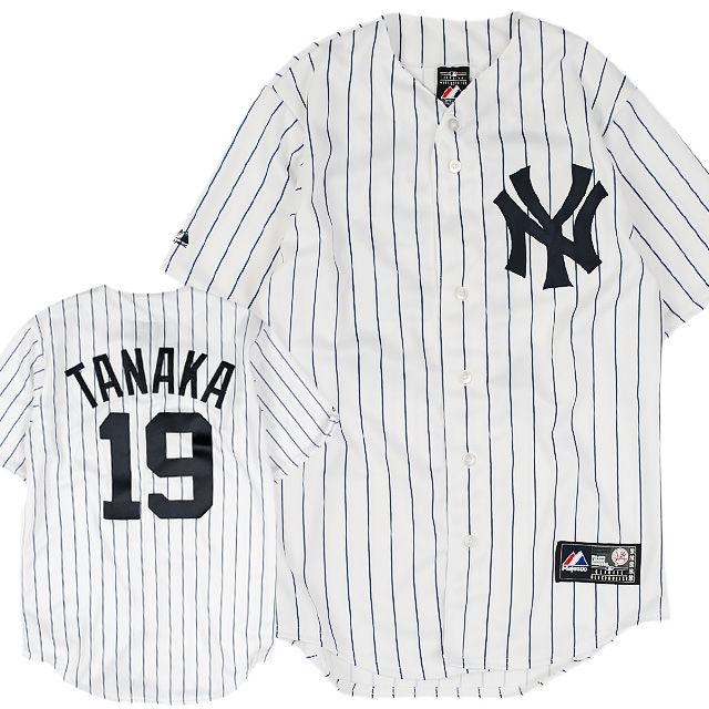 MJ04 MAJESTIC マジェスティック 田中将大 レプリカ #19 ベースボールシャツ ヤンキース REPLICA JERSEY #19 TANAKA YANKEES (MLB)