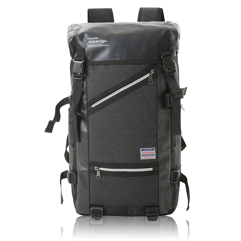 リュック ナイロン 大容量 メンズ バックパック 全3色 AP-056 (ブラック)