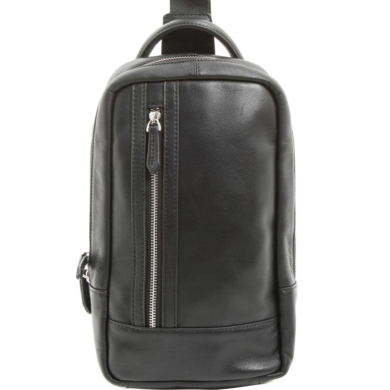 [カルリーノ] CARLINO ショルダーバッグ レザー メンズ ボディバッグ 本革 AP-082 (ブラック)