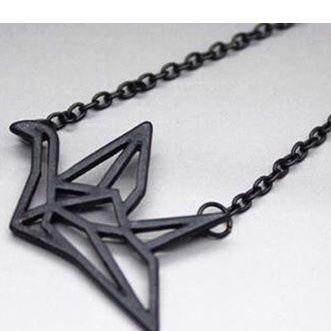 折形さんっぽいネックレスBlack