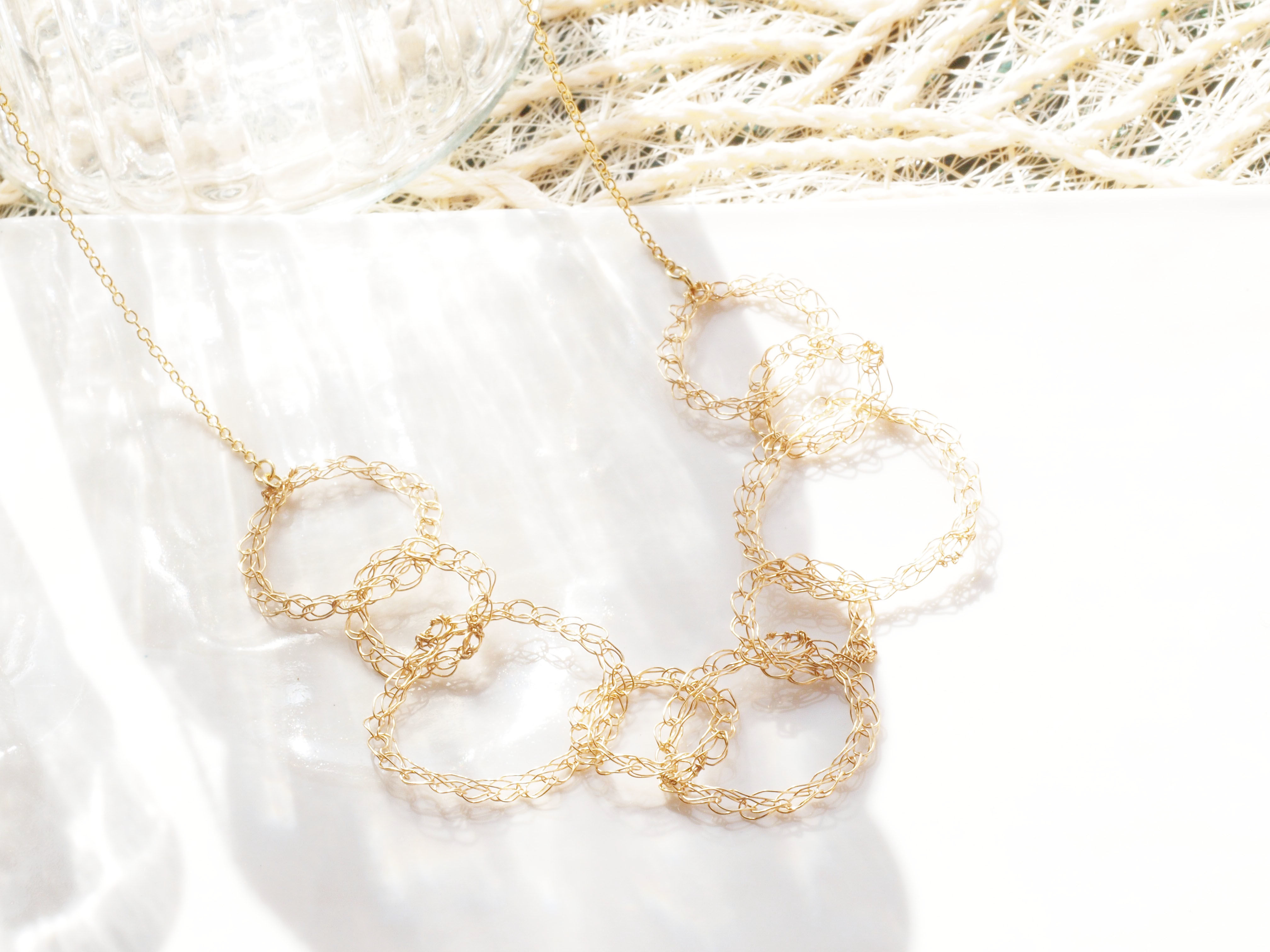 wire chain ネックレス