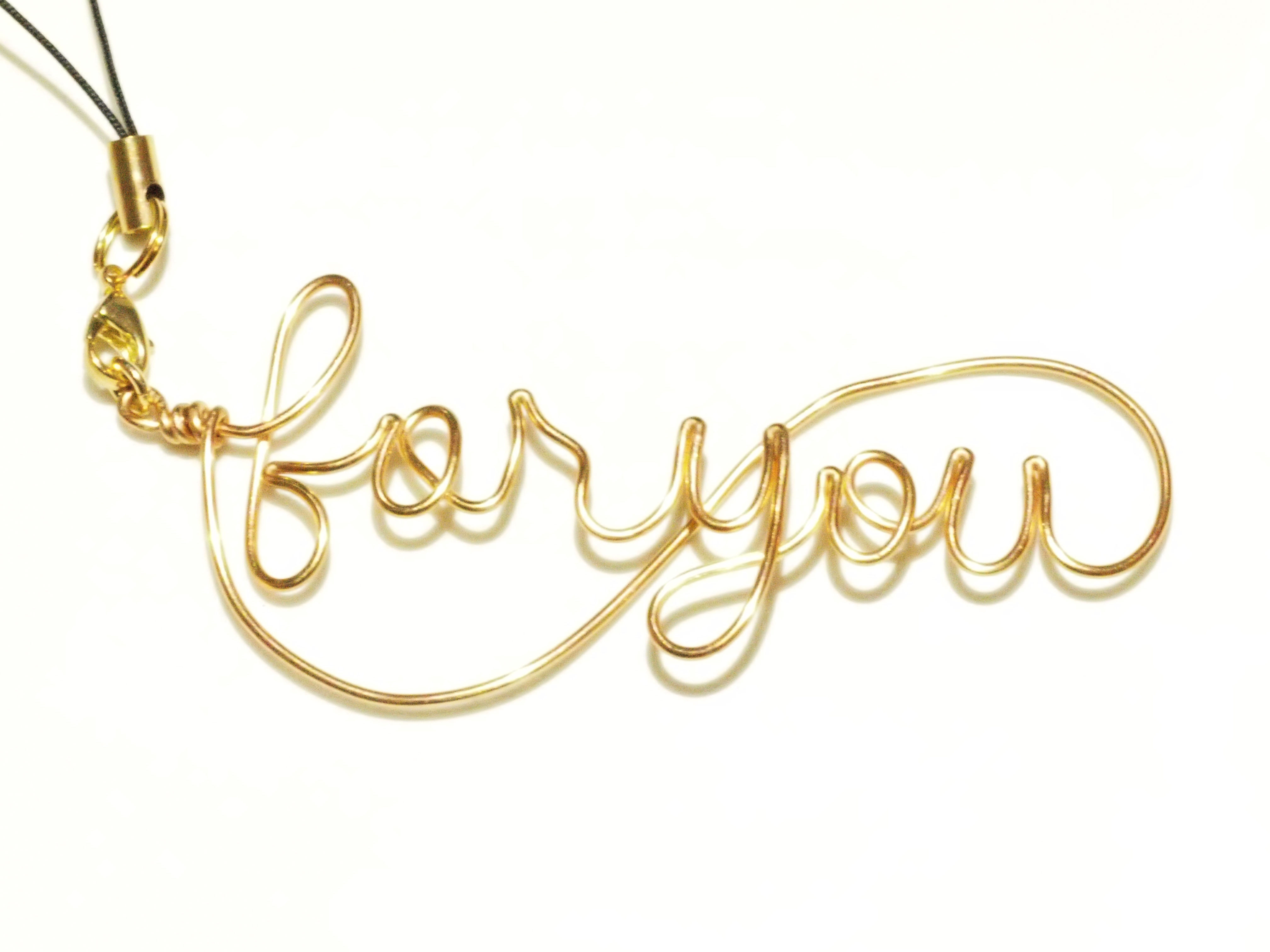 for you wire charm