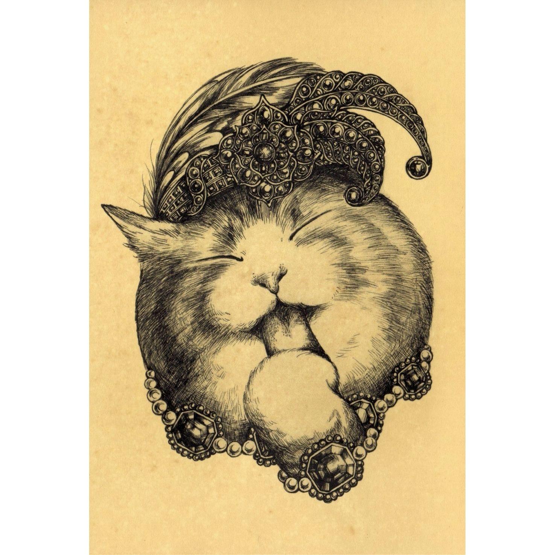 珈琲染めポストカード- Rummy(♂)