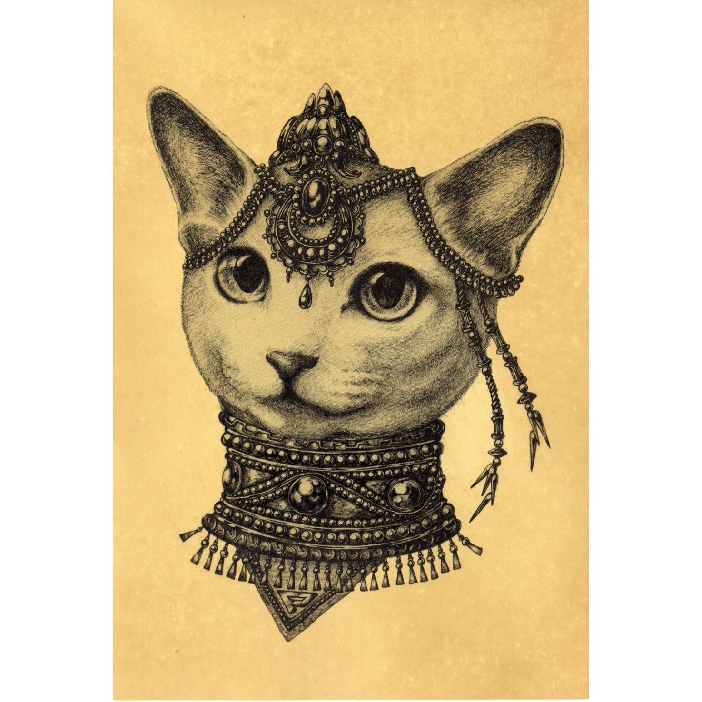 珈琲染めポストカード- Perle(♀)