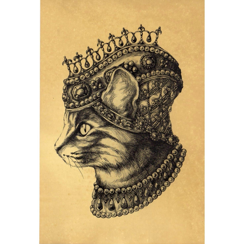 珈琲染めポストカード- Queen(♀)
