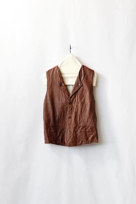 Aski Kataski アスキカタスキ / Lamb leather riding vest/ ak-16002