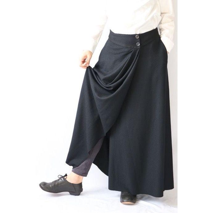 golem ゴレム / ロング巻きスカートLong Wrap Skirt / go-15003