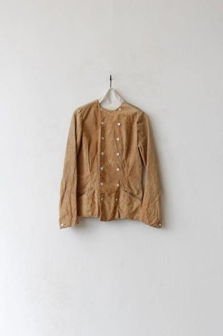 Aski Kataski アスキカタスキ / Peccary Leather Farmer Jacket / ak-16006