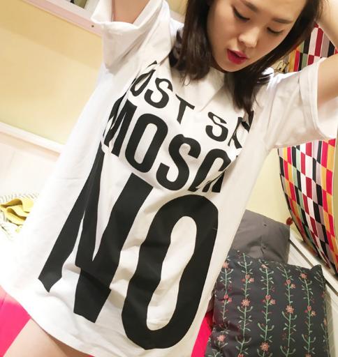 MOSCHINO/モスキーノ 可愛い新品 ミニワンピース 半袖Tシャツ レディースファッション