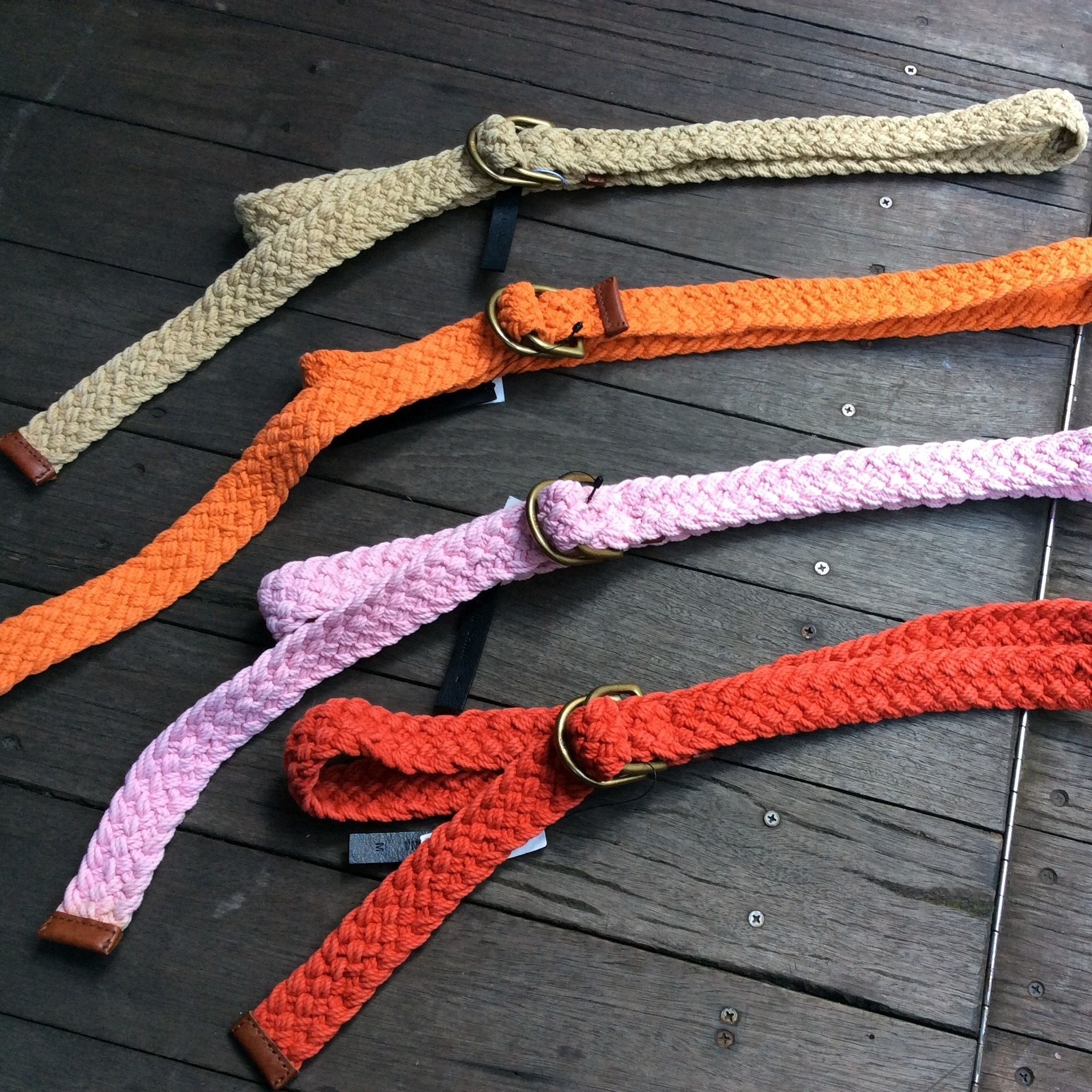 Polo Ralph Lauren/ポロラルフローレン Wリング 編みベルト (NEW)