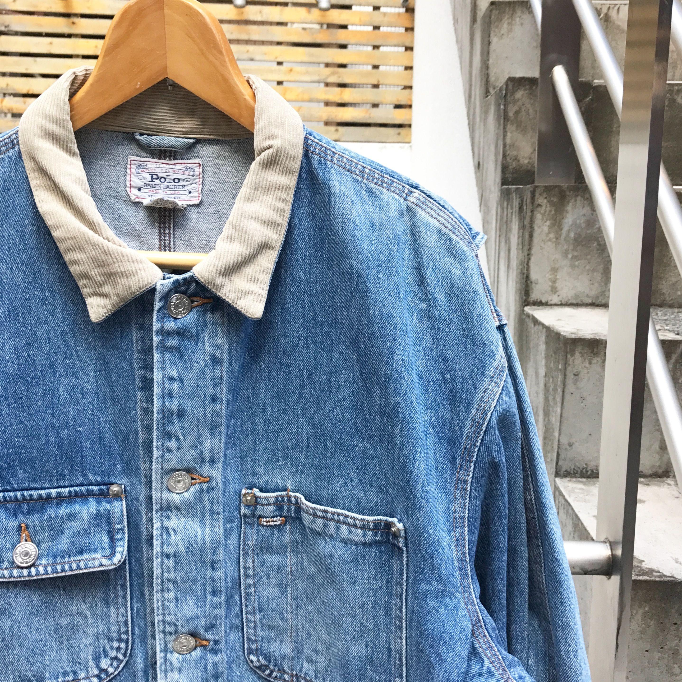 Polo Ralph Lauren/ポロラルフローレン デニムジャケット 80年代 Made  In USA  (USED)