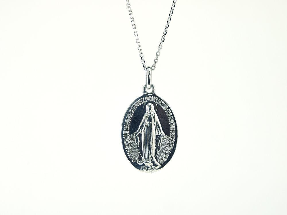 「不思議のメダイ-medaille-」K10ホワイトゴールドメダイペンダント
