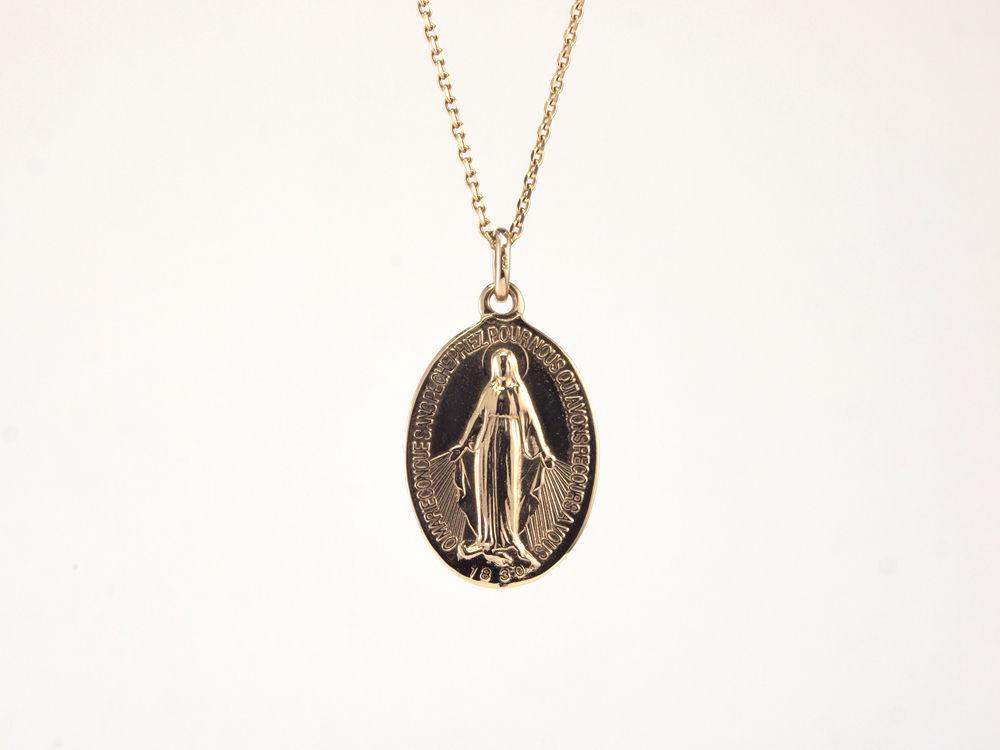 「不思議のメダイ-medaille-」K10イエローゴールドメダイペンダント